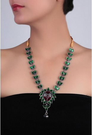 Green & red Stone Afghani Necklace