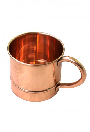 Smooth Straight Copper Mug Copper Handle With Churi