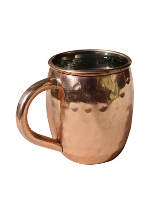 Hammered Copper Mug Copper Handle With Nickel Lined