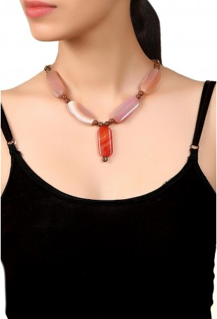 Brown Prosperity  Necklace