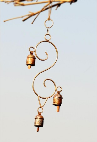 S shape copper chime