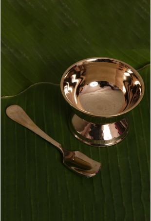Kansa Ice-cream cup with Spoon