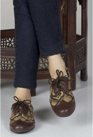 Heet Ajrakh oxford shoes