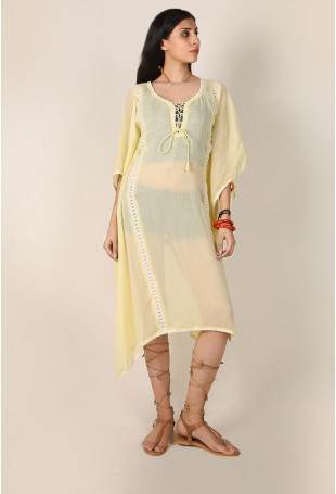 Lime Yellow Overlay Cape