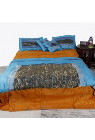 Wafi Double bed brocade quilt set of five