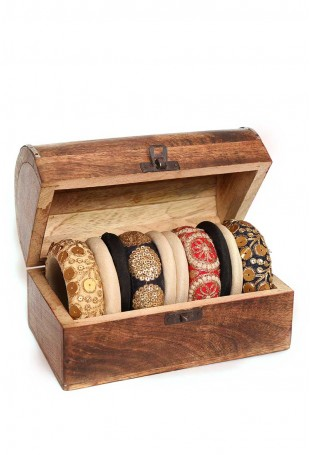 Aalimah embroidered bangle set-2.8 with box