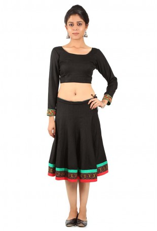 Gujarati embroidered long skirt and blouse