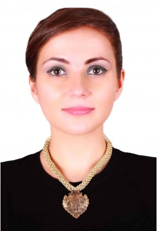 24K Gold plated (99.9%) silver Nama with a floral motif in golden braid necklace