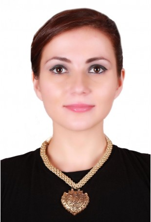 24K Gold plated (99.9%) silver Nama with Geometric motif in golden braid necklace