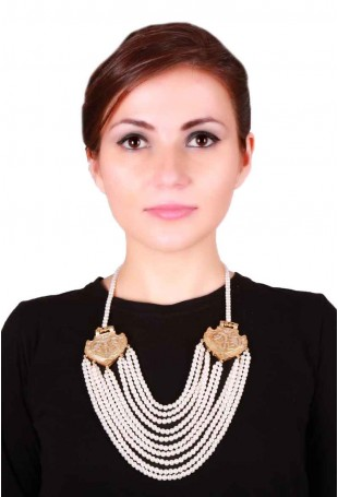 24K Gold plated (99.9%) silver Nama necklace with 2 dual tone pendants