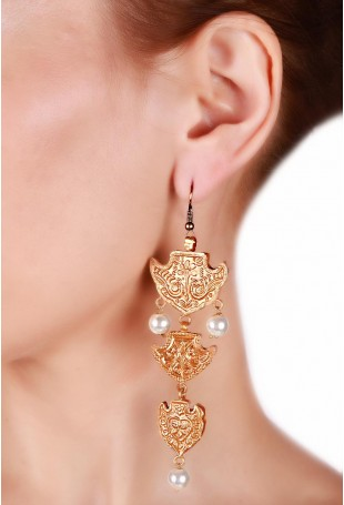 24K Gold plated (99.9%) silver Nama Earrings
