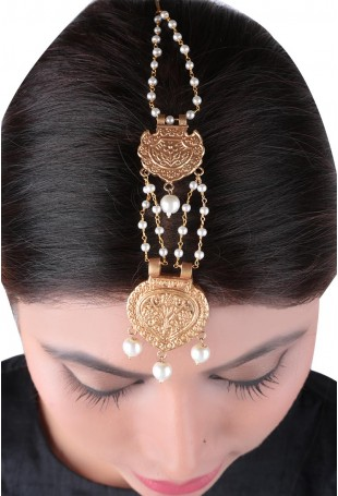 24K Gold plated (99.9%) silver Nama gold plated earring with floral motifs and pearl drop