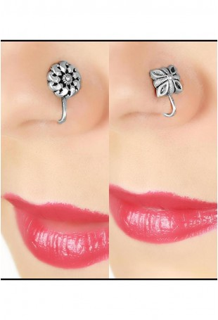Pretty flowers nose pin- set of 2