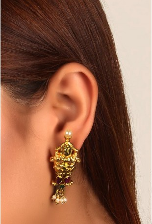 Goddess Lakshmi Dangler Earrings