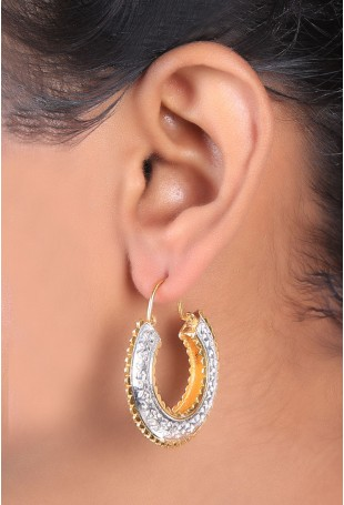 Gold and silver cut work chand bali